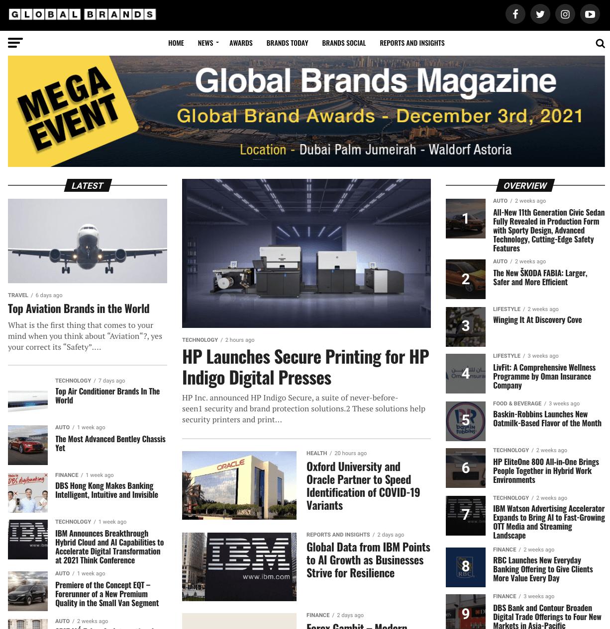 Global Brands, November 2020