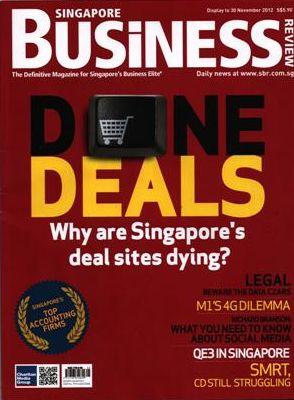 Singapore Business Magazine, November 2012