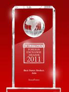 World Finance Awards 2011 - Ο καλύτερος μεσίτης στην Ασία