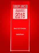 The Best ECN Broker 2016 σύμφωνα με τα European CEO Awards